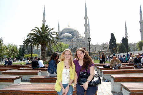at the Blue Mosque, Istanbul