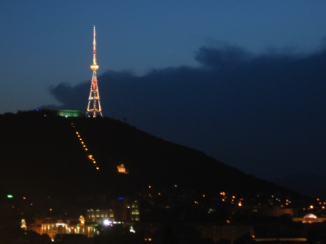 Tbilisi TV Tower at Dusk (June 2010)