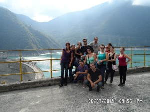 Group photo at the Jvari Enguri Reservoir (from my co-worker, Maka)